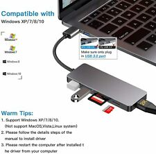 USB to HDMI Adapter,5-in-1 USB 3.0 to HDMI Converter for Multiple Monitors 1080P