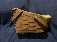 LONGABERGER -Small Vegetable Basket in Rich Brown (2008) w/ Protector & 2 Liners