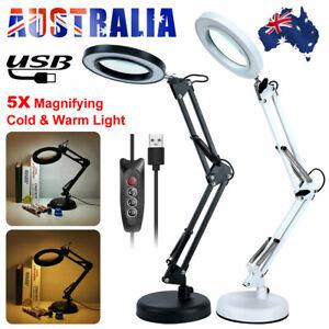 5X Magnifying Glass Lamp Desk Table Beauty Nail Salon Tattoo Magnifier Light USB