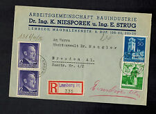 1943 Lemberg Poland Germany GG Censored cover to Dresden Building Association