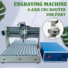 400W Desktop Engraving Wood Milling Machine USB 4 Axis 3040 CNC Router Engraver