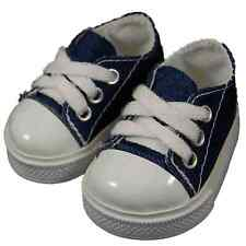 COLLECTIBLE DOLL SHOES FOR 18 Inch American Girl Clothes-Blue Denim Sneaker
