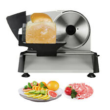 """Electric Meat Deli Cheese Food Slicer 7.5"""" Blade 150w Stainless Kitchen Cutter"""