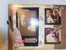 "Antique Looking Picture ""Time Goes By"" 3 Photos in Frame"