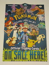1999 Pokemon TV Animation Topps Trading Card Series 1 Promo Store Display Poster