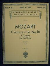 Mozart Concerto No. 16 In D Major For The Piano-Schirmer Vol. 1854 Nos-4Qsmc