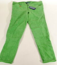 Ralph Lauren Green Genuine Lamb Suede Skinny Pants Sz 2 27x28 Nwt $1298 C3A