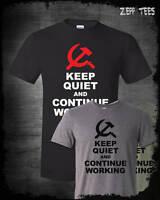 Keep Calm Communist Shirt Funny Commie Bernie Stalin Marx Socialist Antifa Joke