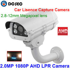 2.0 Megapixel 1080P AHD LPR ANPR Camera with Intelligent 2.8-12mm Auto Iris Lens