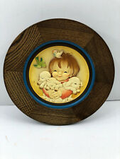 Anri Sping Arrival Lamb Sheep Italy Wood Carv 00004000 ing Wall Picture Framed Plaque 1980