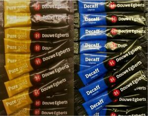 Douwe Egberts Pure Gold / Decaf Decaff 1 Cup Coffee - Individual Sticks Sachets
