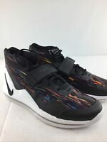Nike Air Force Max Basketball Sneakers Black White MultiColor Men Size 10.5