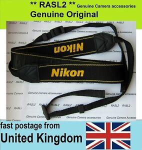Genuine Nikon Neck Shoulder Strap D7100 D3100 D90 D40X CoolPix P1000 P950 P7700