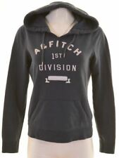 ABERCROMBIE & FITCH Womens Hoodie Jumper Size 14 Medium Navy Blue Cotton  FP10