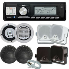 AXIS Marine Stereo Kit MA1500BT Bluetooth + 2 Pairs Speakers + Antenna - Compact