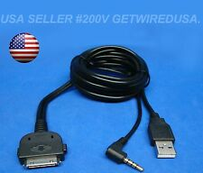 usa seller. KENWOOD iPOD iPHONE AUX INPUT CABLE 3.5MM USB KCA-iP22F KCA-iP240V
