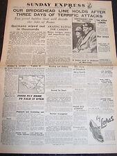 WW2 Wartime WAR Newspaper Sunday Express February 20 1944 Birthday GILES Monty