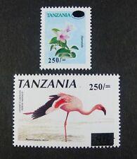 Tanzania Tansania 2001 Pflanze Flamingo Plant Bird Freimarken 4014-4015 MNH