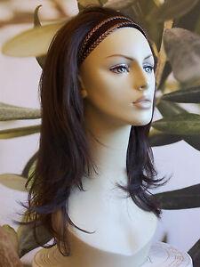 """LADIES LONG 3/4 WIG HALF WIG FALL CLIP IN HAIR PIECE BLACK BROWN BLONDE 18"""""""