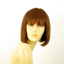 perruque femme 100% cheveux naturel châtain clair cuivré ref JACKIE 30