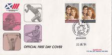 30961 GB FIN DE STOCKS FDC Prince Andrew Mariage Commonwealth Jeux MAC 22 Jul 86