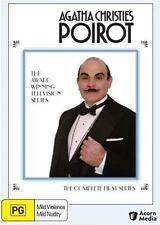 Agatha Christie: Poirot: Series 1 (DVD, 4-Disc Set) Box Set  Very Good Condition