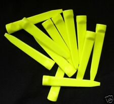 Plastic yellow WEDGE GOLF TEES ~3 doz indestructible Ship from OHIO~the original