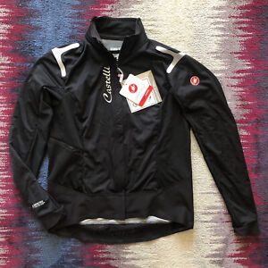 Castelli Alpha Ros Ladies Black Cycling Jacket Size XL Aprox Uk 12 BNWT