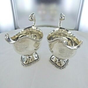 GOOD ANTIQUE STERLING SILVER  GRAVY BOATS, BY PAUL STORR, LONDON 1809.