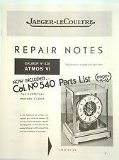 Jaeger LeCoultre Atmos Clock Repair Guide