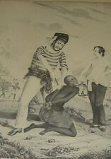 """""""BRANDING SLAVES"""" on The Coast of Africa Previous to Embarkation Currier & Ives"""