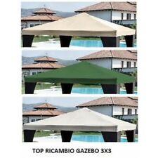 TOP TELO COPERTURA DI RICAMBIO GAZEBO 3X3 MT TETTO COLORE VERDE POLIETERE