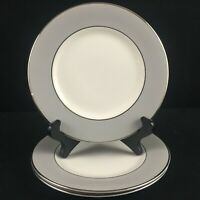 Set of 3 VTG Bread Plates by Syracuse China Debutante Gray Platinum USA