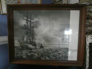 "A.Aubrey Bodine ""PEACE AND GOODWILL"" Tall Ship and Bay Bridge Framed Photo"