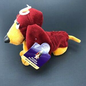 "Applause Hush Puppies 6"" Bean Bag Plush Basset Hound Dog Tan /Rust New Chantilly"