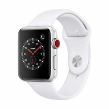 Reloj de Apple serie 3 38mm Gps + Celular 4G LTE-color blanco plateado banda de deporte