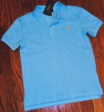 Ralph Lauren Boys' Cotton Mesh Classic Polo Shirt Size 6 Color Blue