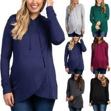 Womens Pregnant Breastfeeding Nursing Maternity Hoodie Sweatshirts Pullover Tops