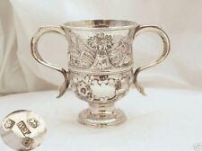 RARE Geo III HM Argento Sterling 2 gestiti Cup 1776