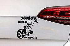Baby on Board AUTO Heckscheiben Sticker junior Biker AUFKLEBER Cool Rocker Baby