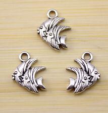 15 pcs The lovely fish Tibet silver charm pendant  16x12 mm