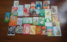 29 Vintage Greeting Cards - 1970s on - Scrapbooking, Collage, Card-Making