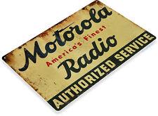 TIN SIGN Motorola Radio Metal Décor Wall Art Garage Shop Bar A512