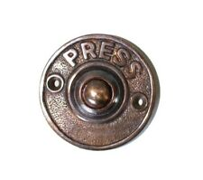 Press Door Bell Push Button w Bronze Finish in Solid Brass Old Retro Style