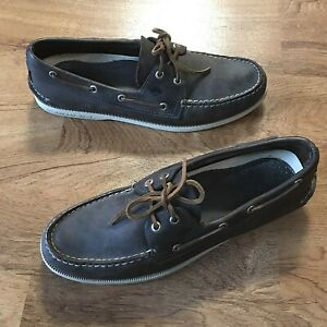 Sperry Topsider Mens Brown Leather Loafer Boat Shoes Size 11.5 M