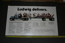 VINTAGE LUDWIG DRUM PROMO POSTER KISS PINK FLOYD QUEEN AEROSMITH