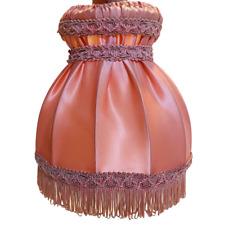 """Vintage Lampshade Dusky Pink Tassled Bell Fringe Granny Bedside Lamp 8''x8.5"""""""