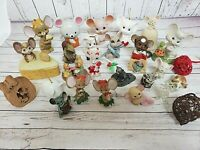 Mouse Lover Mice Mouse Village Lot of 27 Vintage Figurine Collection