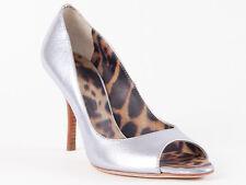 New  Roberto Cavalli Metallic Lilac Leather Shoes Size 37 US 7