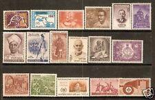 India 1967 Year Set/Pack 17 Stamps Taj Mahal Scout Nehru MNH